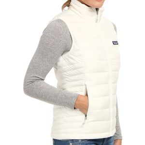 Women's Patagonia White Puffer Vest